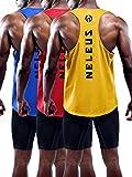 Kyпить Neleus Men's 3 Pack Dry Fit Athletic Muscle Tank,5031,Blue,Red,Yellow,US M,EU L на Amazon.com