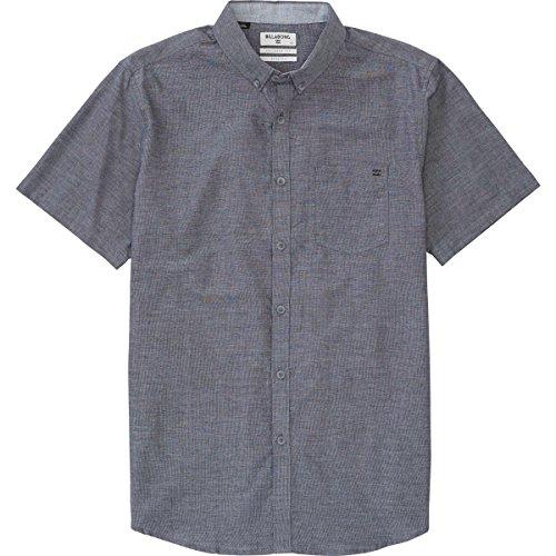 (Billabong Men's All Day Chambray Woven Shirts, Black, Large)