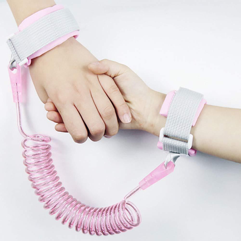 Corde de liaison au poignet de sécurité ou corde de traction pour bébé enfants 2M (rose) 1PC Beito