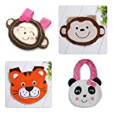 2012 New Version of Waterproof Baby Infant Bibs – 4 Packs (Girl Monkey, Boy Monkey, Panda and Tiger)