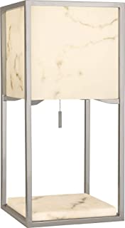 product image for Robert Abbey S1448 Rubix - One Light Table Lamp, Polished Nickel Finish with Faux Alabaster Shade