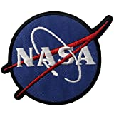 NASA Logo Patch Space Explorer Badge Embroidered Applique Iron On Sew On Emblem