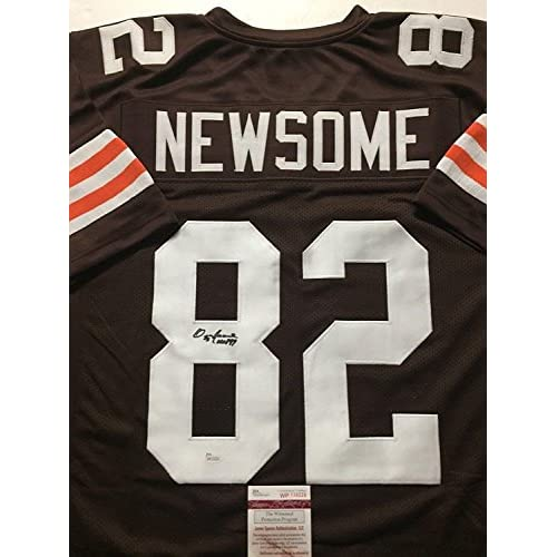 sports shoes 9781f ce627 Ozzie Newsome Signed Jersey - HOF 99 Brown COA - JSA ...
