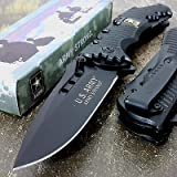 U.S. ARMY Knife Licensed US ARMY Knives BLACK Tactical Folding Knife