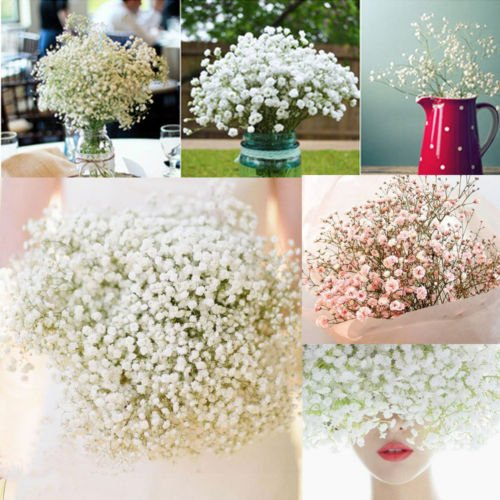 UNAKIM-1 Head Romantic Baby's Breath Gypsophila Silk Flower Party Wedding Home - Carolina Place Mall Stores In