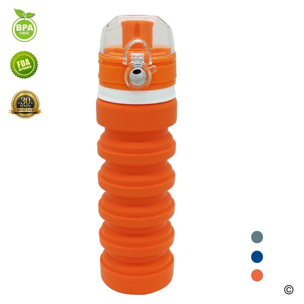RANLE Botella de Agua Plegable, Compresible, portátil, para ...