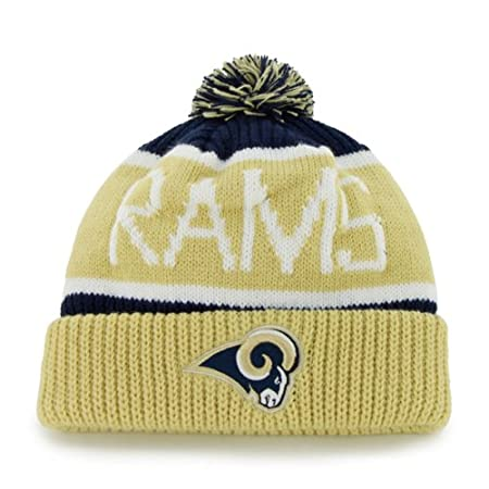 47 Brand Calgary Cuff Beanie Hat with POM POM - NFL Cuffed Winter Knit  Toque Cap 46bae66a0335