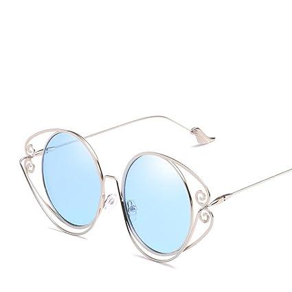 Axiba Gafas de Sol de Personalidad Redonda Marco geometría ...