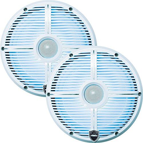 Wet Sounds Revo8 8-Inch 300W White LED Full Range Marine Speakers (Two Way Full Range Speaker)