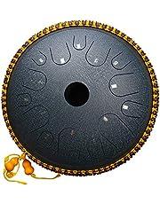 Tambor metálico de lengüetas, de acero,instrumento de percusión, hang, con bolsa, libro de música, mazos, púas de dedo, Dorado
