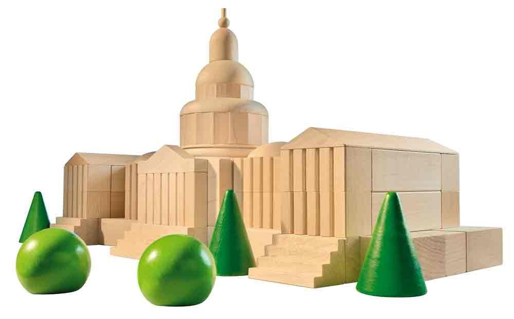 HABA Capitol Wooden Architectural Building Blocks - 70 Piece Set