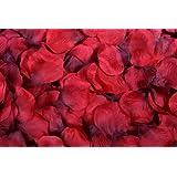 Flomans - 400 pétalos de rosa, color rojo