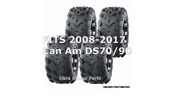 2008-2017 Can Am DS70//90 Full Set ATV tires 19x7-8 19x7x8 /& 18x9.5-8 18x9.5x8