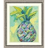 Framed Art Print 'Vibrant Pineapple I' by Jennifer Goldberger