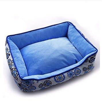 Wuwenw Nuevo Sofá para Mascotas Camas para Perros Impermeable Suave Lana Polar Cálido Gato Cama Casa, E, S: Amazon.es: Productos para mascotas