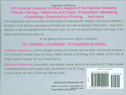 101 Things I Learned In Fashion School: Alfredo Cabrera, Matthew ...