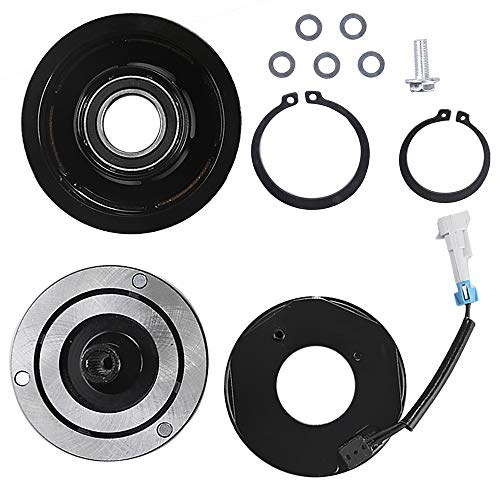 15-4720 AC Compressor Clutch Assy for Chevy Silverado Express GM Sierra Savana 1500 2500 3500 Air Conditioning Repair Kit Plate Pulley Bearing Coil