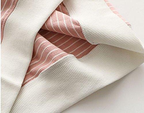 Pink Femme shirt amp;white Longues Acvip Sweat Manches xURUOX