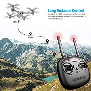 Potensic GPS FPV RC Drone, D80 with 1080P Camera Live Video and GPS Return Home, Strong Brushless Motors, 25 mph High Speed 5.0GHz Wi-Fi Gyro Quadcopter with Compact Suitcase by Potensic