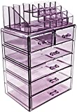 Sorbus Acrylic Cosmetic Makeup and Jewelry Storage Case Display, Purple