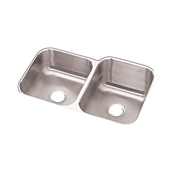 revere rcfu312010l double bowl undermount stainless steel sink