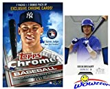 2017 Topps Chrome Baseball EXCLUSIVE Factory Sealed Retail Box with SPECIAL SEPIA REFRACTORS plus BONUS 2013 Kris Bryant RC! Look for RC's,Refractors & Autographs of Aaron Judge, Cody Bellinger & More