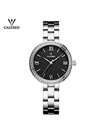 Women's Quartz Watch, Roman Numeral Simple Casual Fashion Analog Wrist Watch, Waterproof 30M Comfortable Stainless Steel Strap Crystal Diamond Watches