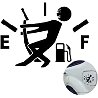 WINOMO Funny Car Stickers High Gas Consumption Decal Fuel Gage Empty Stickers (Black)