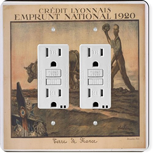 rikki-knight-3716-gfidouble-vintage-posters-art-credit-lyonnais-design-light-switch-plate