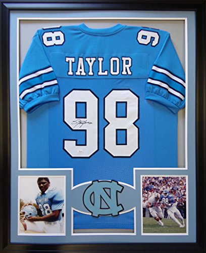 (Lawrence Taylor North Carolina Tar Heels Autograph Signed Custom Framed Jersey)