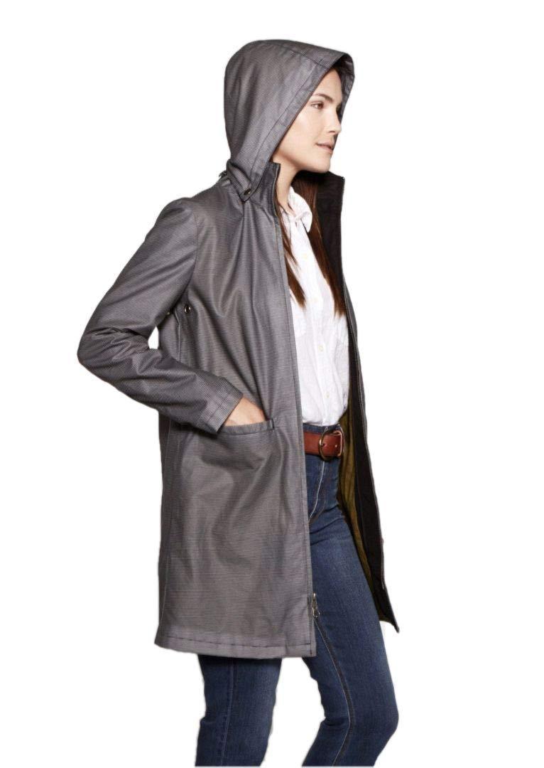 FELLER Modern Topper Hooded Women's Raincoat | Skinny Stripe | Medium by FELLER