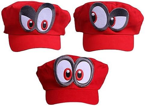 3x Super Mario gorra Odyssey - Costume para adultos y niños ...