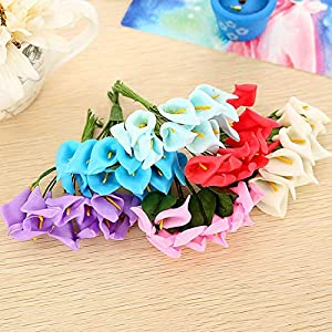 Artificial & Dried Flowers - Diy Gift Boxes Collage Craft 144 Pcs 2.5 Cm A Simulation Artificial Pe Foam Calla Lily Flowers - Wedding Lily Decoration Decorations Flower Calla 17