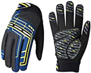 Vgo 1Pair 5℃/41℉ or Above Kids' Cycling Gloves, Bike, Biking, Bicycle, Outdoor Gloves, Touchscreen Compati