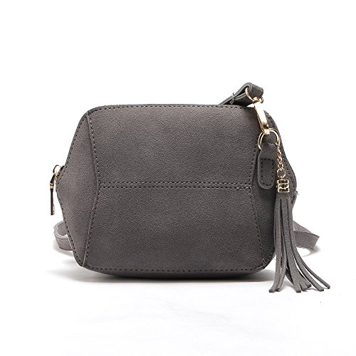 DukeTea Mini Crossbody Purse for Teen Girls, Small Crossover Phone Bag for Women Gray - Grey Crossover