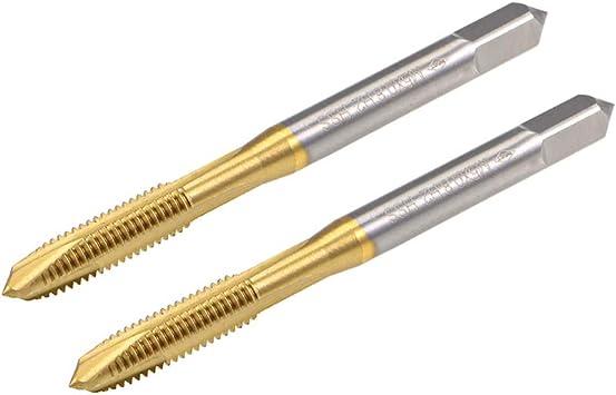 (2pcs) 5.0mm x.8 Machine straight slot tap M5 x 0.8mm   superior quality (S)