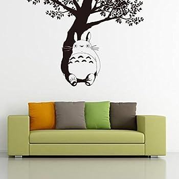 Fangeplus(TM) DIY Removable My Neighbor Totoro Under The Tree Miyazaki  Hayao Art Mural Vinyl Waterproof Wall Stickers Kids Room Decor Nursery Decal  Sticker ...