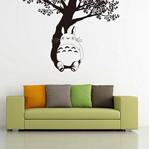 Fangeplus(TM) DIY Removable My Neighbor Totoro Under the Tree Miyazaki Hayao Art Mural Vinyl Waterproof Wall Stickers Kids Room Decor Nursery Decal Sticker Wallpaper 31.1''x22.8''