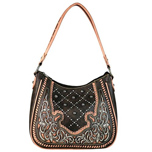 Hobo MW658G Concealed Embroidered West Montana Coffee 8291 Carry Western Handbags Purses x4qAcU1Y