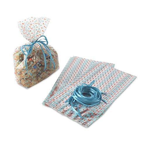 Nordic Ware 24unidades Bake y bolsas de celofán y cinta de regalo, multicolor