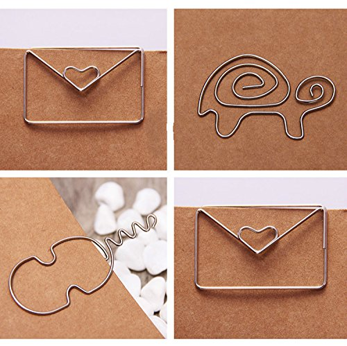 Modeling Metal silver Paper clips Animals cute styles big size binding supply clip on card stationery gift (Marker Ss Band)