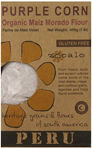 Zócalo Peru Organic Purple Corn Flour, 16 Ounce (Corn Masa Flour compare prices)