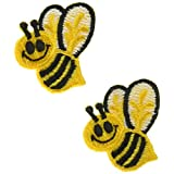 Wrights 196 695-1 Applique Iron-On Appliques-Bumble Bees 1-Inch X 1-1/2-Inch 2/Package