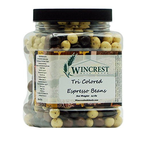 Chocolate Espresso Beans - 1.5 Lb Tub (Tri Colored)
