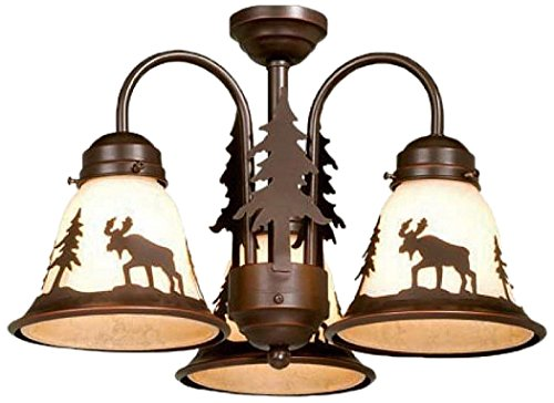 Vaxcel LK55616BBZ-C Yellowstone 3L Light Kit, Burnished Bronze, Brown by Vaxcel