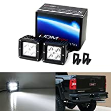iJDMTOY Complete 40W High Power CREE LED Pod Light Kit w/ Rear Bumper Foot Step Mounting Brackets For 2015-up Chevrolet Silverado/GMC Sierra