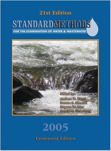 Standard Methods For The Examination Of Water And Wastewater Book