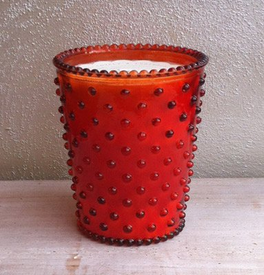 Simpatico 16 oz Hobnail Glass Candle #47 Poppy - Hall Orange Poppy