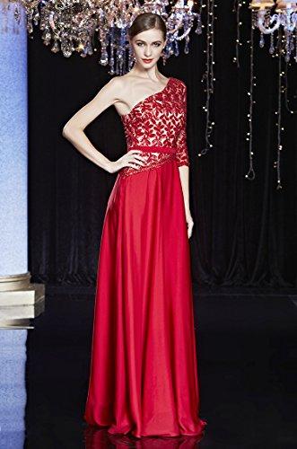 Beauty-Emily -  Vestito  - Monospalla - Donna rosso 42