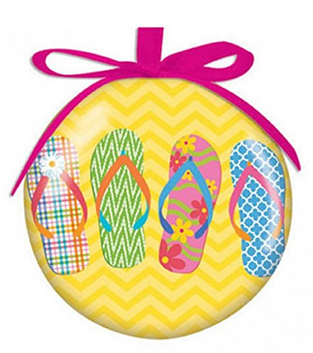 Flip Flop Parade Design Hanging Ball Christmas Ornament High Gloss Resin